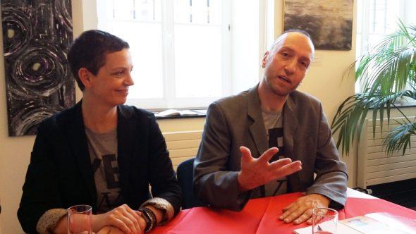 Alexandra von Korff und André Schlegel (Bild: Chantal Delhez/BRF)