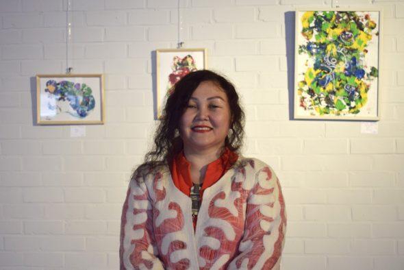 Marzhan Abildina, Künstlerin aus Kasachstan (Bild: Raffaela Schaus/BRF)