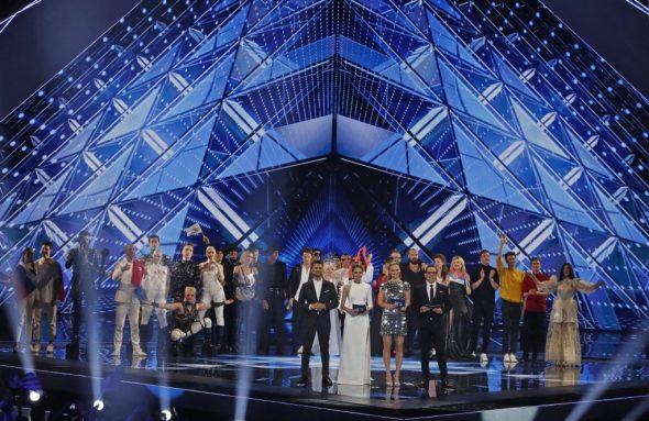 Zehn Länder haben sich beim ersten Halbfinale des ESC qualifiziert (Bild: Jack Guez/AFP)