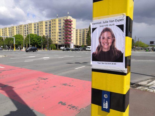 Fahndungsbild von Julie Van Espen (Archivbild: Jonas Van Boxel/AFP)