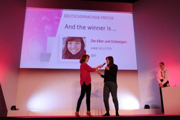Pressepreis für Anne Kelleter (Bild: Olivier Krickel/BRF)