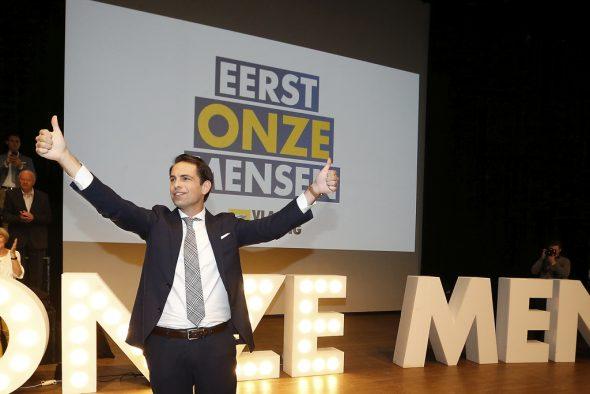 Tom Van Grieken, Vorsitzender des Vlaams Belang