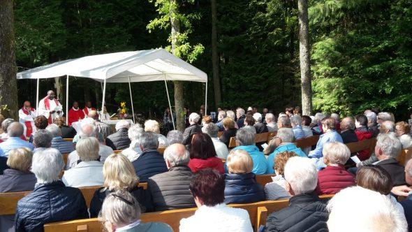 Messe bei der Waldkapelle in Tinseubois (Bild: Michaela Brück)