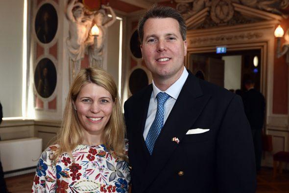 Prinzessin Kelly von Sachsen-Coburg und Prinz Hubertus von Sachsen-Coburg und Gotha (Bild: Eric Lalmand/Belga)
