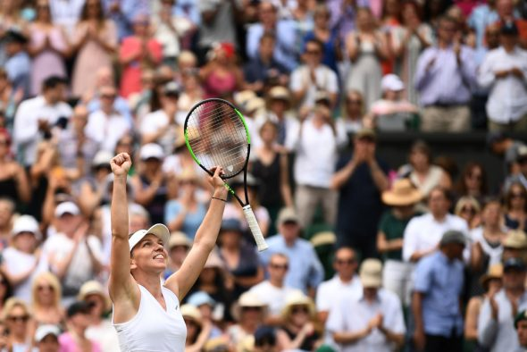 Simona Halep steht im Finale in Wimbledon (Bild: Daniel Leal-Olivas/AFP)