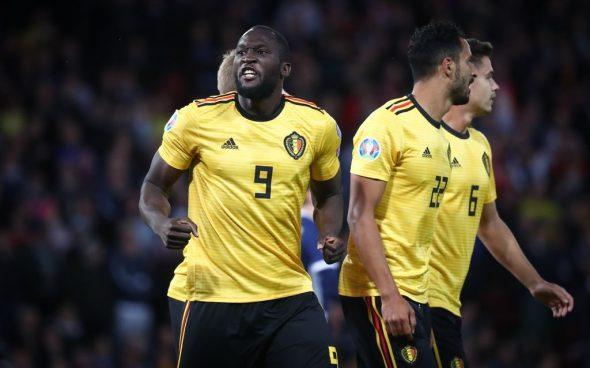 Romelu Lukaku feiert das 1:0 für Belgien gegen Schottland (Bild: Virginie Lefour/Belga)