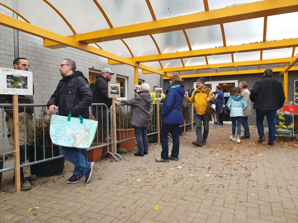 Baumverteilungsaktion in Kettenis (Bild: Lena Orban/BRF)