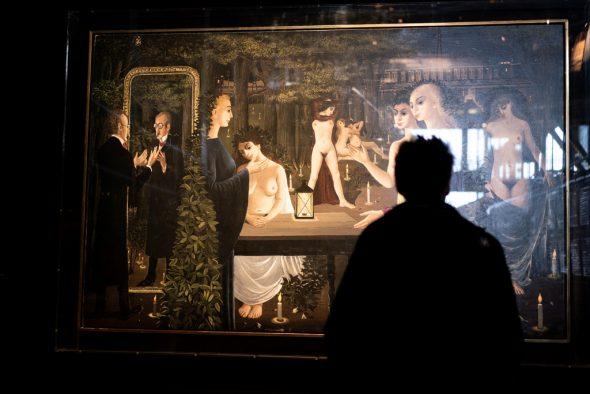 """Ausstellung """"Paul Delvaux, l'homme qui aimait les trains"""" im Museum Train World (Bild: Kenzo Tribouillard/AFP)"""