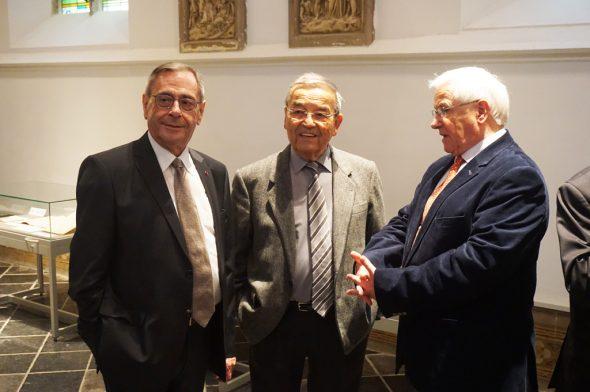30 Jahre Staatsarchiv in Eupen: Joseph Maraite, der ehemalige Innenminister Louis Tobback und Dr. Alfred Minke (Bild: Stephan Pesch/BRF)