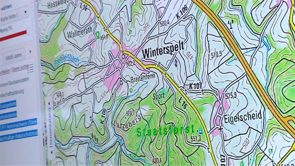 Plan der A60 bei Winterspelt (Bild: Raffaela Schaus/BRF)