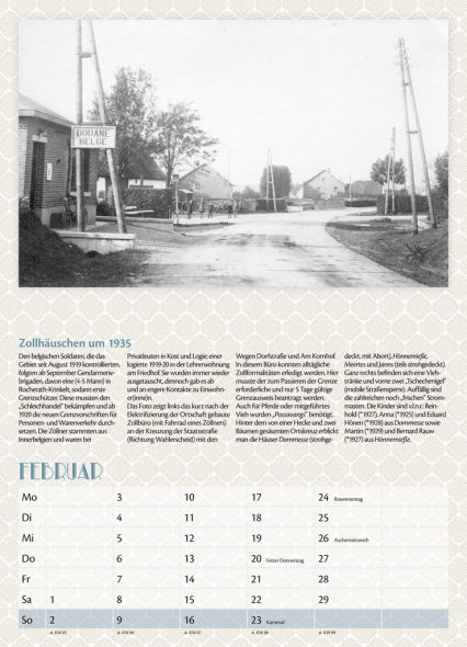 Kalender 2020 der Geschichtsgruppe Rocherath-Krinkelt
