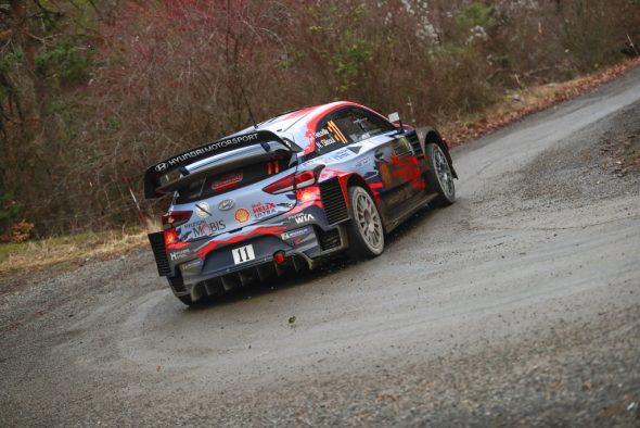 Thierry Neuville/Nicolas Gilsoul bei der Rallye Monte-Carlo 2020 (Bild: Austral/Hyundai Motorsport)