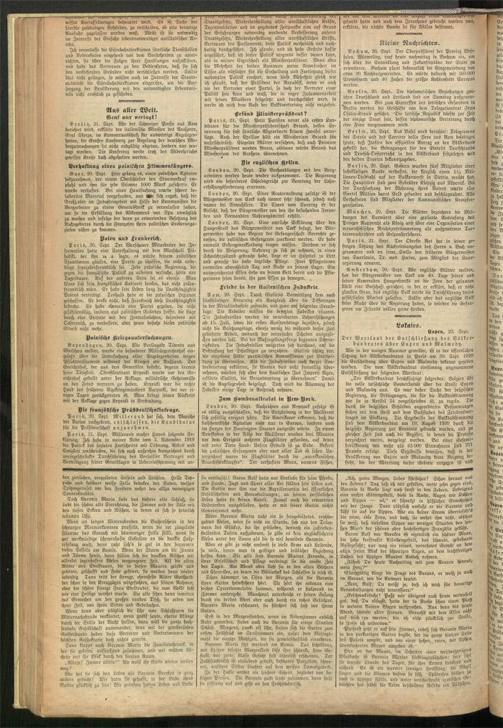 Eupener Nachrichten vom 23.9.1920