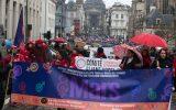 6.000 Teilnehmer bei Demo zum Weltfrauentag in Brüssel (Bild: Nicolas Maeterlinck/Belga)