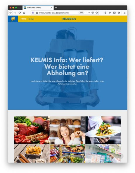 Kelmis bietet Liefer-und Abholservice an