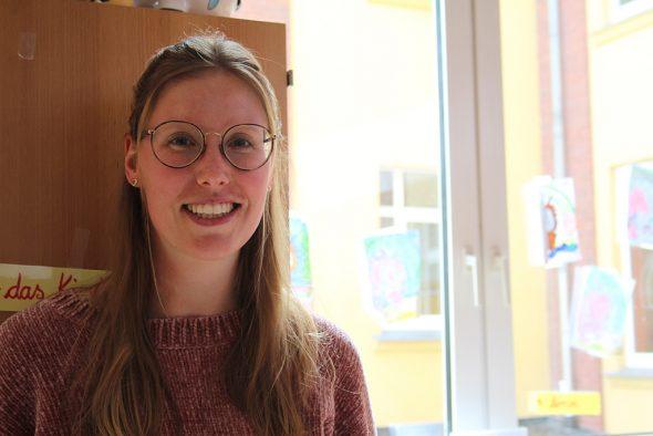 Christine Münch, Lehrerin an der SGO in Eupen (Bild: Anja Verbaarschot/BRF)