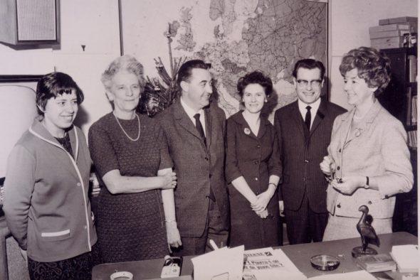 Irene Janetzky (r.) und ihr Brüsseler Team in den 1960er Jahren (Bild: BRF-Archiv)