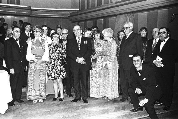 Festakt zur Verabschiedung von Irene Janetzky 1974 (Bild: BRF-Archiv)
