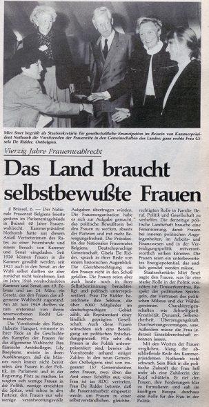 Frauenwahlrecht (Archivbild: GrenzEcho)