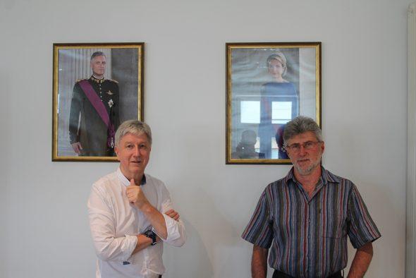 Büllingens Bürgermeister Friedhelm Wirtz und Reinhold Adams (Bild: Andreas Lejeune/BRF)