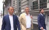 OpenVLD-Chef Egbert Lachaert, CD&V-Chef Joachim Coens und MR-Chef Georges-Louis Bouchez (Bild: Maarten Weynants/Belga)