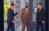 Bart De Wever, König Philippe und Paul Magnette (Bild: Nicolas Maeterlinck/Belga)