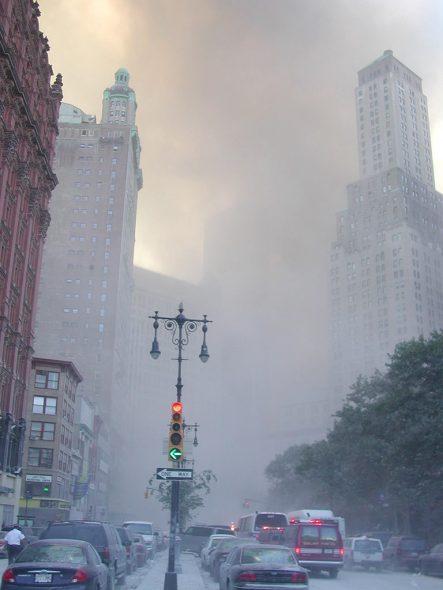 Anschlag auf das World Trade Center in New York am 11. September 2001 (Archivbild: Ciaran Dougherty/EPA)
