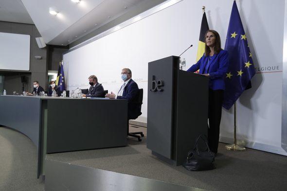 Pressekonferenz nach dem Nationalen Sicherheitsrat am 23.9. (Bild: Olivier Hoslet/Belga)
