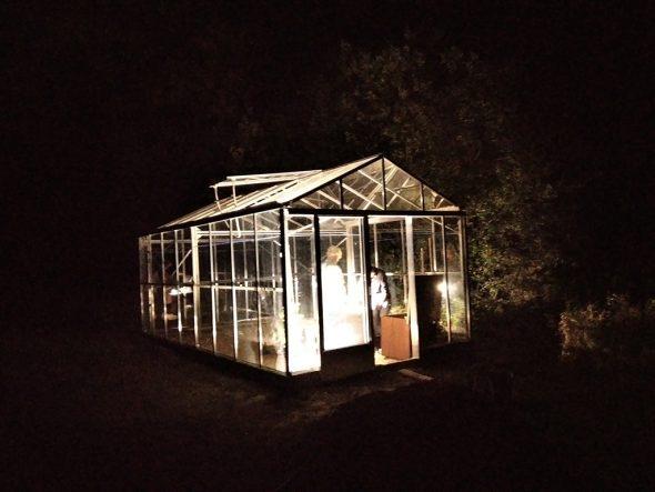 """Das """"Greenhouse"""" in St. Vith bei Nacht (Bild: Joost van Duppen)"""