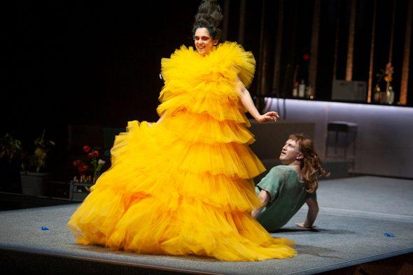 La Calisto: Fanny Lustaud, James Laing (Bild: Wil van Iersel/Theater Aachen)