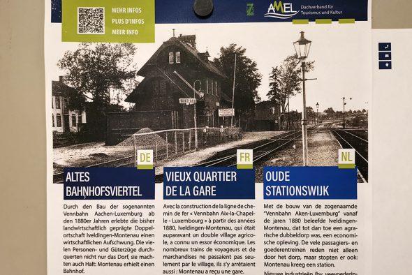 Layout für die Geschichtstafeln der Gemeinde Amel (Bild: Raffaela Schaus/BRF)