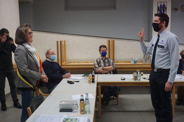 Vereidigung von Olivier Colling zum Hauptinspektor (Foto: Stephan Pesch, BRF)