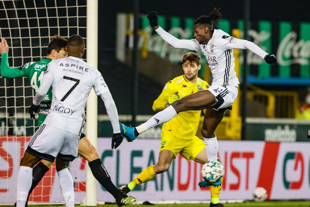 Eupen's Amara Baby pictured during a soccer match between Cercle Brugge and KAS Eupen, Saturday 09 January 2021 in Brugge, on the advanced day thirty of the 'Jupiler Pro League' first division of the Belgian championship. BELGA PHOTO BRUNO FAHY