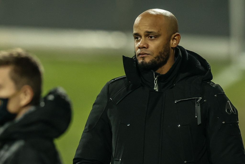 Anderlecht's head coach Vincent Kompany pictured during a soccer match between KAS Eupen and RSC Anderlecht, Friday 15 January 2021 in Eupen, on day 20 of the 'Jupiler Pro League' first division of the Belgian championship. BELGA PHOTO BRUNO FAHY