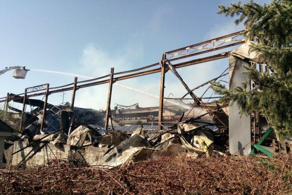 Brand im Sägewerk in St. Vith