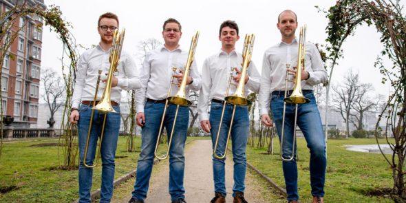 Das Posaunen-Quartett Bone Station 4 (Pressebild)
