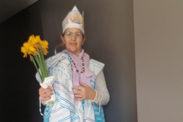 """Annemie Heinens Bewerbungsfoto als """"Quarantine Queen"""" (Bild: privat)"""