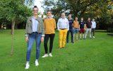 Abschluss von #Sports4You: Carlotta Ortmann (LOS), Anne Brüll (Eupener Sportbund), Serge Förster (Lions Club Eupen), Olivier Henz (TriTeam Eupen), Francis Rauw (LAC Eupen), Fabian Connotte (TriTeam Eupen), Christophe Ramjoie und Robin Emonts vom BRF (Bild: Katrin Margraff/BRF)