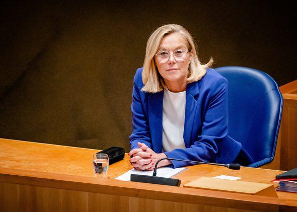 Die scheidende niederländische Außenministerin Sigrid Kaag (Bild: Bart Maat/ANP/AFP)