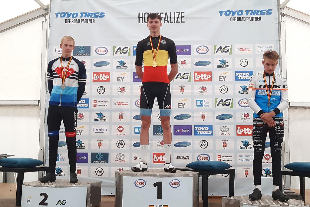 Tim Rex ist neuer Junioren-Landesmeister im Mountainbike (Bild: Christophe Ramjoie/BRF)