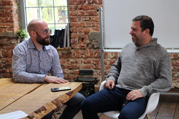 Marvin Müller und Stephan Mathieu (Bild: Christoph Heeren/BRF)